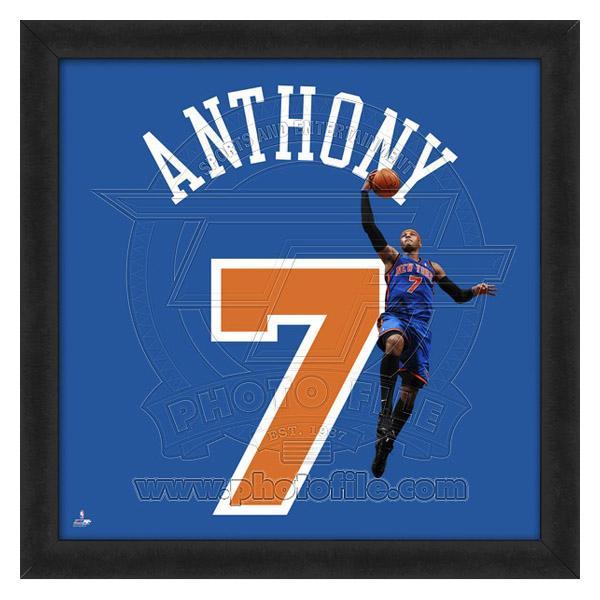 お取り寄せ NBA ニックス カーメロ・アンソニー フォト ファイル/Photo File UNIFRAME 20 x 20 Framed Photographic