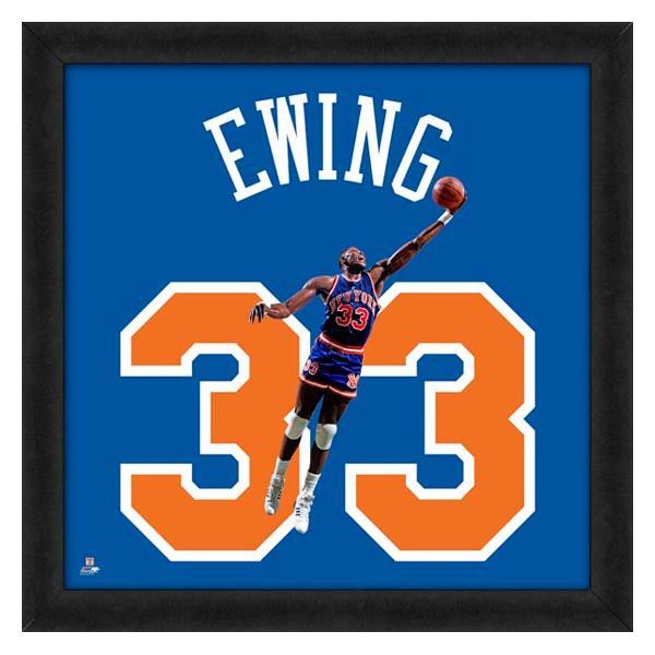 お取り寄せ NBA ニックス パトリック・ユーイング フォト ファイル/Photo File UNIFRAME 20 x 20 Framed Photographic