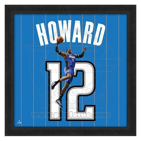 お取り寄せ NBA マジック ドワイト・ハワード フォト ファイル/Photo File UNIFRAME 20 x 20 Framed Photographic