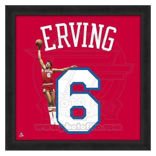お取り寄せ NBA 76ers ジュリアス・アービング フォト ファイル/Photo File UNIFRAME 20 x 20 Framed Photographic