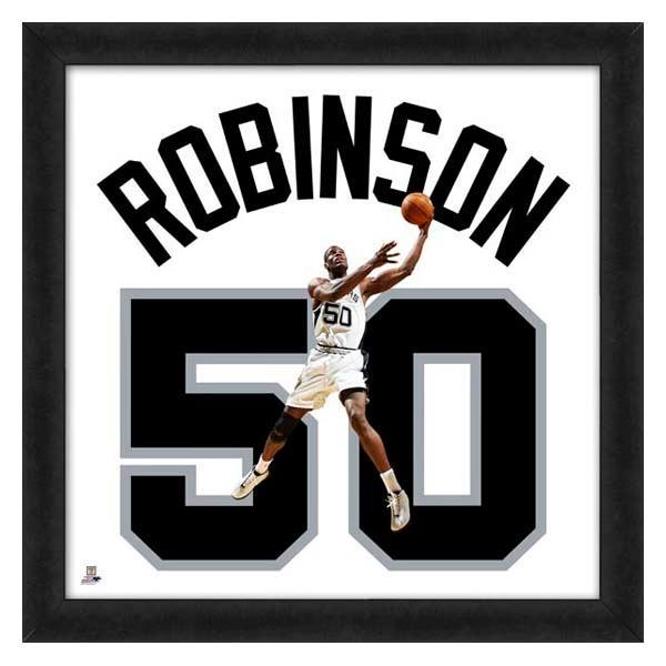 NBA スパーズ デビッド・ロビンソン フォト ファイル/Photo File UNIFRAME 20 x 20 Framed Photographic