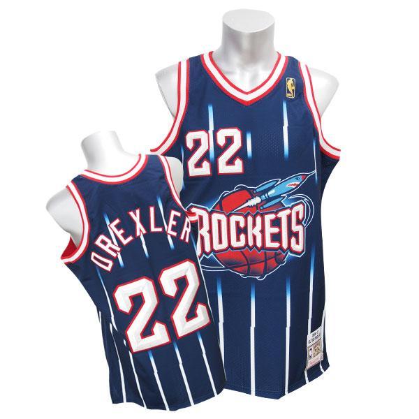 NBA Rockets #22 Clyde Drexler Throwback Authentic uniform (1996-97) Mitchell&Ness