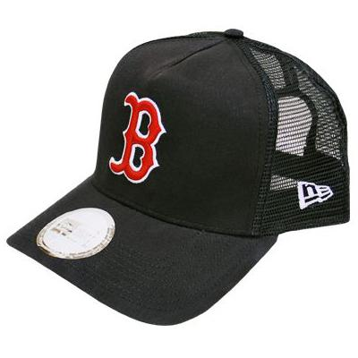 fbd3a63937 MLB NBA NFL Goods Shop  MLB Boston Red Sox Trucker Mesh Cap NewEra ...