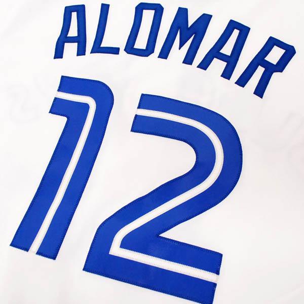 MLB Blue Jays #12 Robert Alomar Cooperstown Player replica uniform (white) Majestic