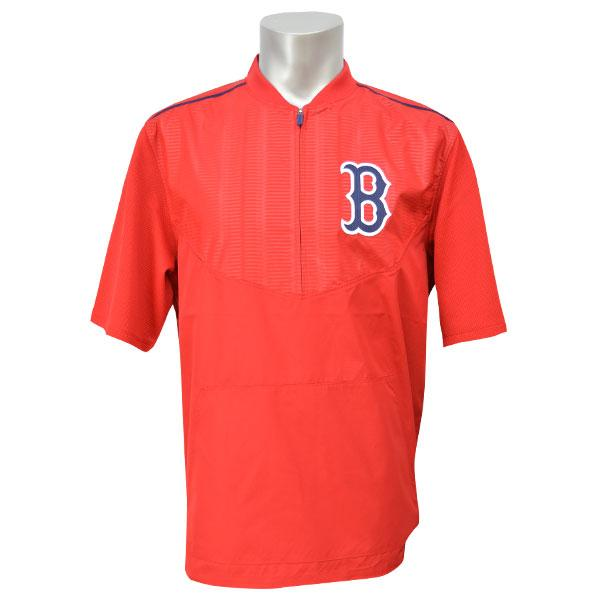 MLB レッドソックス ジャケット レッド マジェスティック 2015 オンフィールド ショートスリーブ トレーニング ジャケット