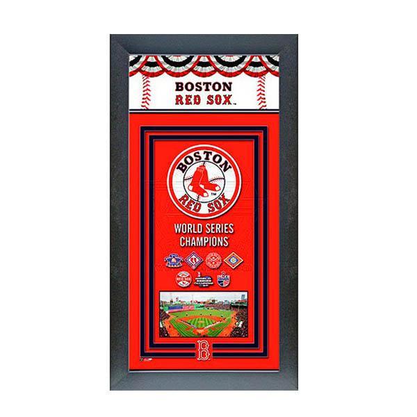 お取り寄せ MLB レッドソックス フォト ファイル/Photo File Framed Championship Banner - 14.5 x 27.5