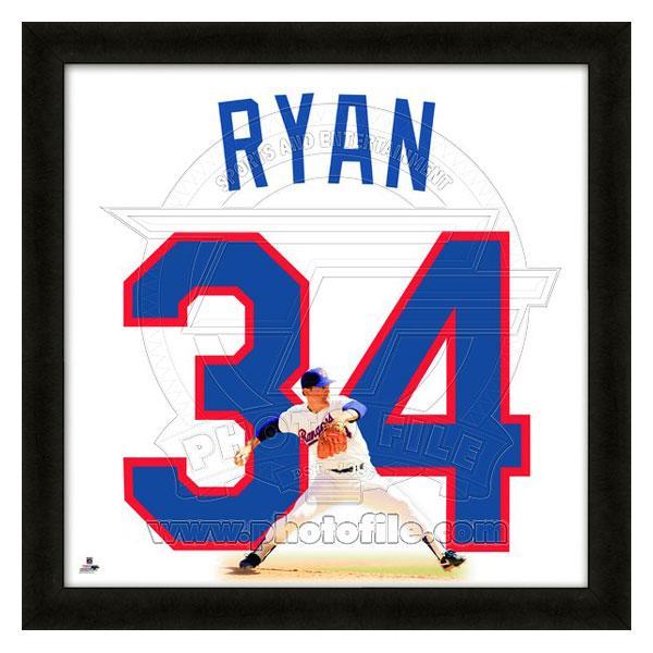 MLB レンジャーズ ノーラン・ライアン フォト ファイル/Photo File UNIFRAME 20 x 20 Framed Photographic