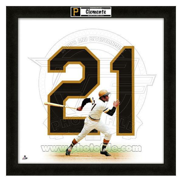 お取り寄せ MLB パイレーツ ロベルト・クレメンテ フォト ファイル/Photo File UNIFRAME 20 x 20 Framed Photographic