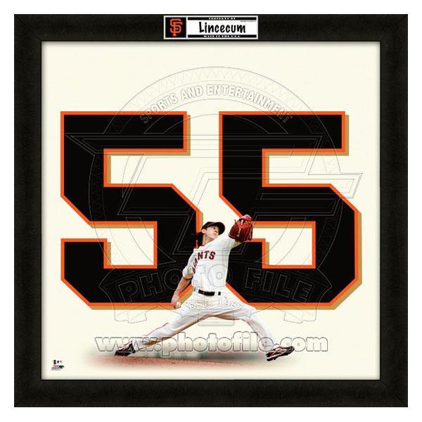お取り寄せ MLB ジャイアンツ ティム・リンスカム フォト ファイル/Photo File UNIFRAME 20 x 20 Framed Photographic