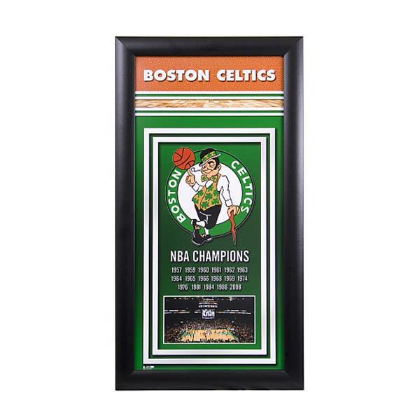 NBA セルティックス フォト ファイル/Photo File Framed Championship Banner - 14.5 x 27.5