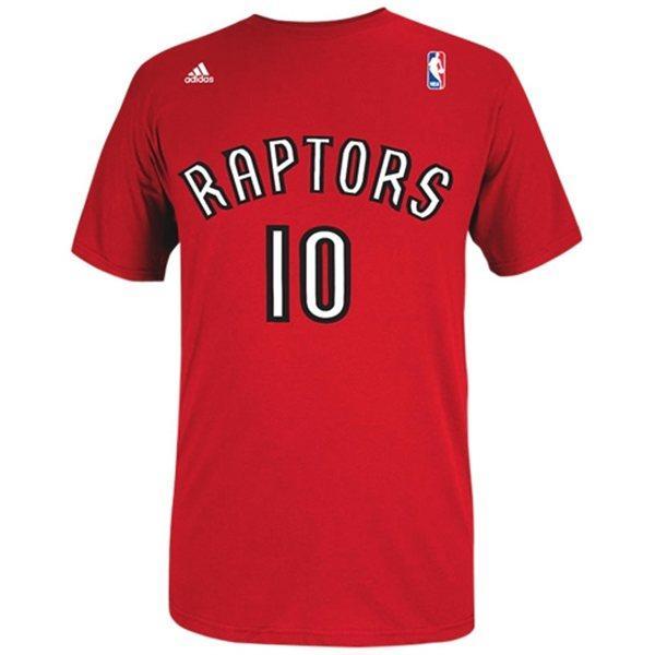 NBA raptors demar de Lausanne T Shirt red adidas NET NUMBER t-shirt