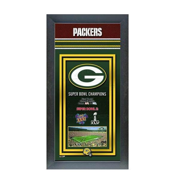 NFL パッカーズ フォト ファイル/Photo File Framed Championship Banner - 14.5 x 27.5