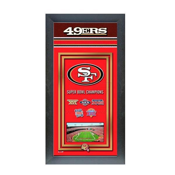 スーパーボウル進出 お取り寄せ NFL 49ers フォト ファイル/Photo File Framed Championship Banner - 14.5 x 27.5