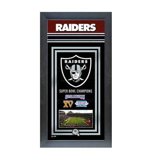 お取り寄せ NFL レイダース フォト ファイル/Photo File Framed Championship Banner - 14.5 x 27.5