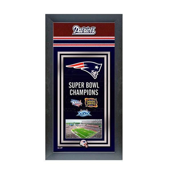 お取り寄せ NFL ペイトリオッツ フォト ファイル/Photo File Framed Championship Banner - 14.5 x 27.5