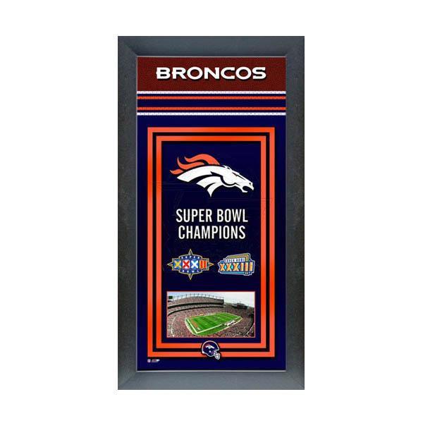 お取り寄せ お取り寄せ お取り寄せ NFL ブロンコス フォト ファイル/Photo File Framed Championship Banner - 14.5 x 27.5