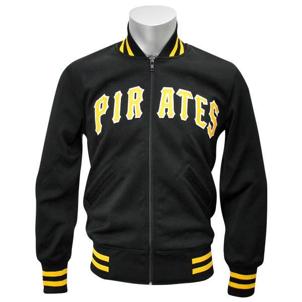 MLB パイレーツ ジャケット ブラック ミッチェル&ネス Authentic BP ジャケット 【1811MNセール】