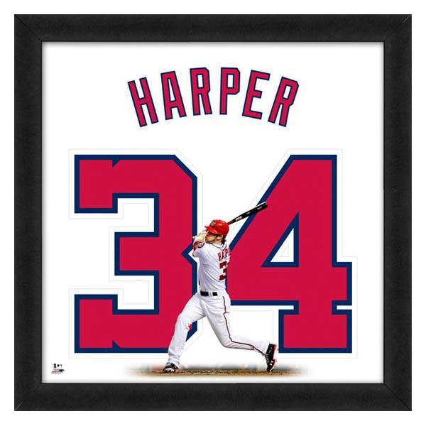ワールドシリーズ進出 お取り寄せ MLB ナショナルズ ブライス・ハーパー フォト ファイル/Photo File UNIFRAME 20 x 20 Framed Photographic