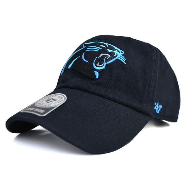 NFL パンサーズ キャップ/帽子 ブラック 47ブランド Cleanup Adjustable キャップ【0702価格変更)】【1910価格変更】【191028変更】