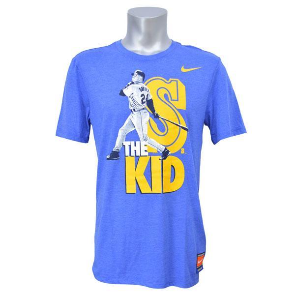 MLB Mariners Ken Griffey JR. T Shirt Blue Nike /Nike (TEE COOPERSTOWN PLAYER
