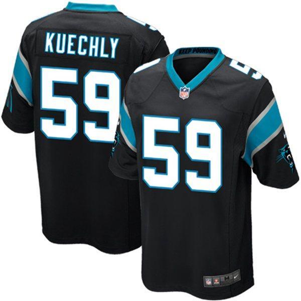 NFL パンサーズ ルーク・クエクリー ユニフォーム ブラック Nike