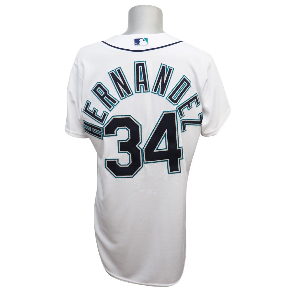 MLB マリナーズ フェリックス・ヘルナンデス ユニフォーム ホーム マジェスティック Authentic Player ユニフォーム