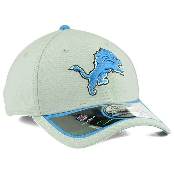 the best attitude 149f5 aa0c1 ... NFL Lions Cap   Hat grey new era New Era (2015 On-Field ...