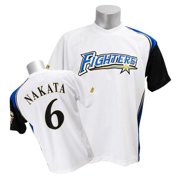Hokkaido Japan ham # 6 Nakata sho player's tee shirts (home) Mizuno