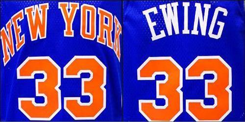 NBA 尼克斯队 Patrick Ewing 泽西岛路阿迪达斯灵魂锋卫摇摆人球衣