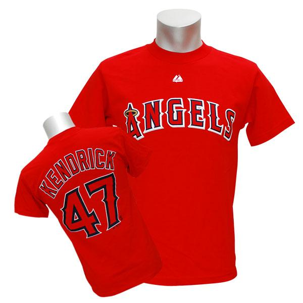MLB Angels Howie Kendrick T Shirt red majestic Player T shirt