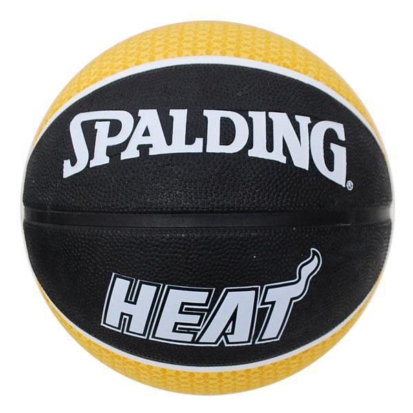 NBA heat basketball 7 balls - Black / Yellow Spalding /SPALDING TEAM RUBBER BALL 2011
