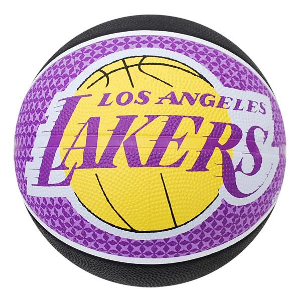 NBA Lakers basketball # 5 balls - black / purple Spalding /SPALDING TEAM RUBBER BALL 2011