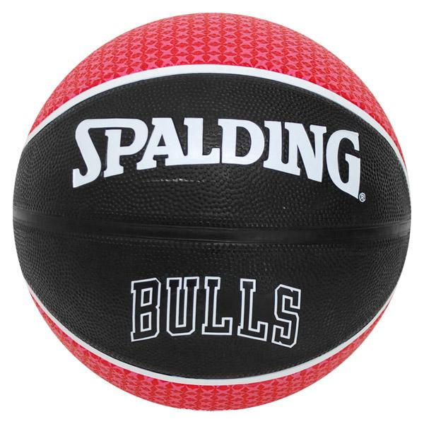 NBA basketball bulls Black/Red-5 of sphere Spalding /SPALDING TEAM RUBBER BALL 2011
