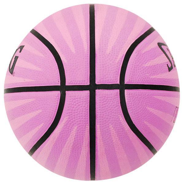 NBA basketball ball 6 ball - pink Spalding /SPALDING 4HER STRIPE RUBBER BALL