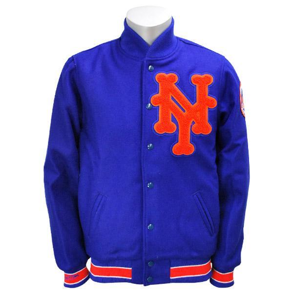 MLB メッツ ジャケット 1969-ロイヤル ミッチェル&ネス Wool ジャケット