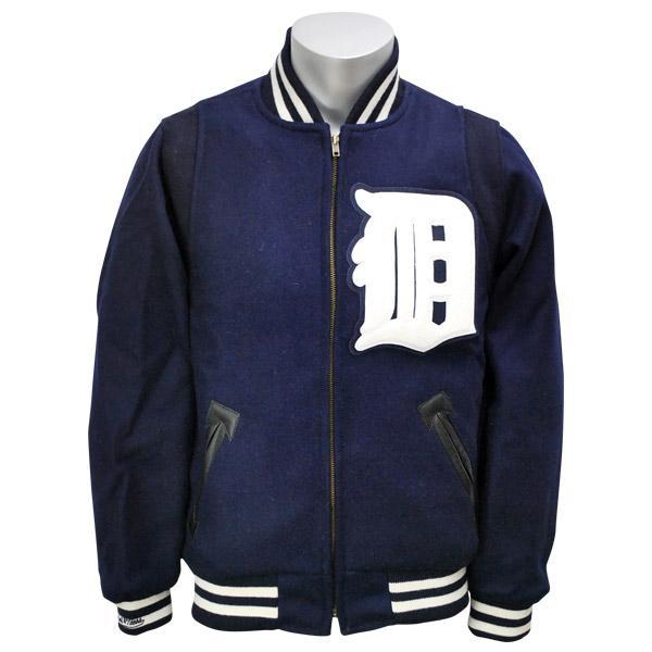 MLB タイガース ジャケット 1948-ネイビー ミッチェル&ネス Wool ジャケット【1811MNセール】