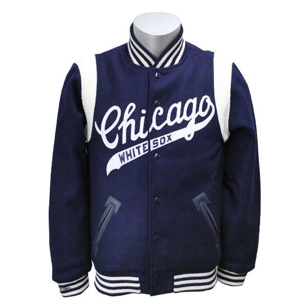 MLB ホワイトソックス ジャケット 1967-ネイビー ミッチェル&ネス Wool ジャケット【1811MNセール】