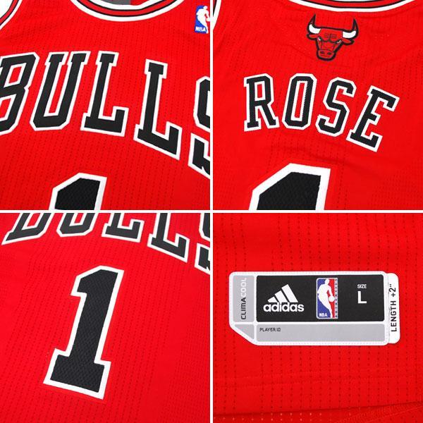 detailed look 8a86e 9a07a Adidas NBA bulls # 1 Derrick Rose Revolution Authentic uniform (road)