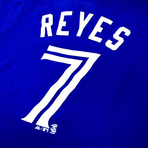 MLB Blue Jays Jose Reyes kids T-shirt blue majestic Player T-shirt Youth