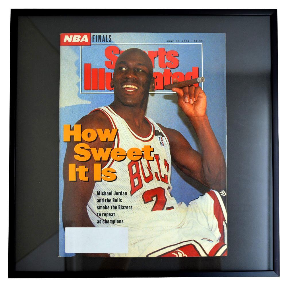 NBA ブルズ マイケル・ジョーダン フォトフレーム Photo Frame in Sports Illustrated 1992/6/22