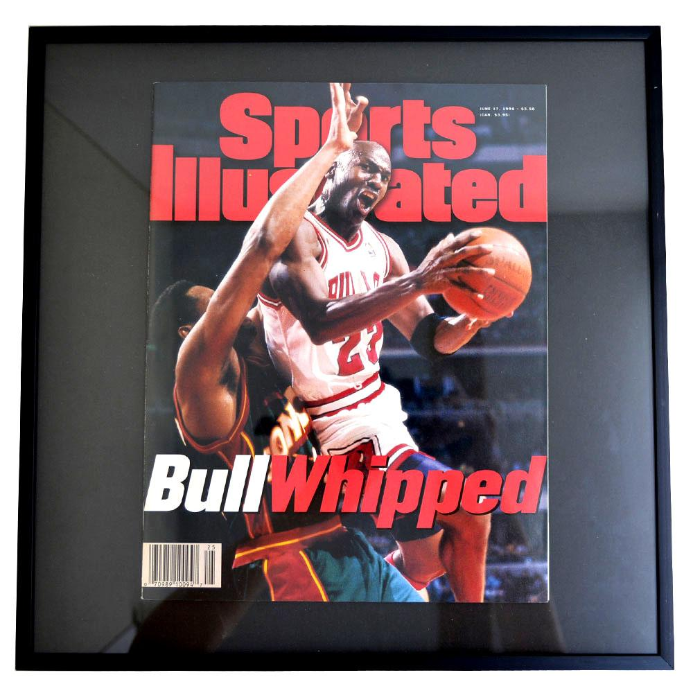 NBA ブルズ マイケル・ジョーダン フォトフレーム Photo Frame in Sports Illustrated 1996/6/17 【1902NBAセール】