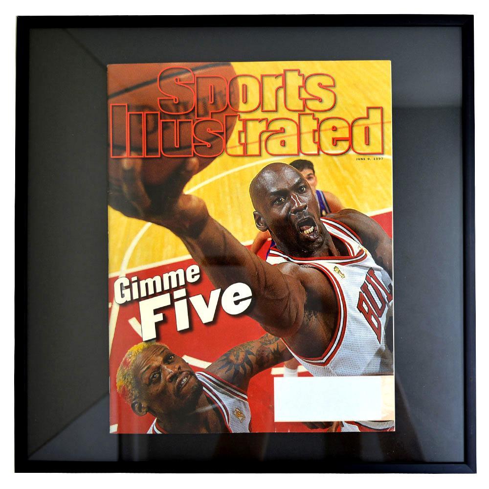 NBA ブルズ マイケル・ジョーダン フォトフレーム Photo Frame in Sports Illustrated 1997/6/9