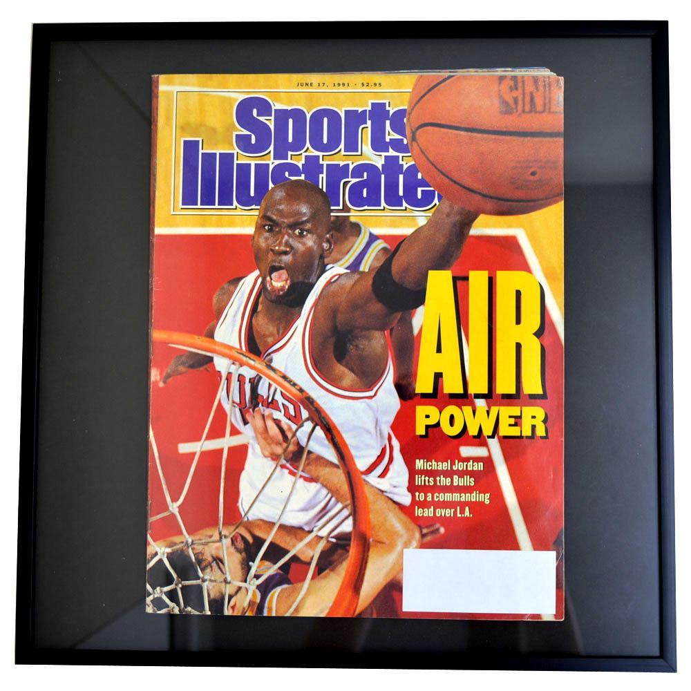 NBA ブルズ ジョーダン&ロッドマン フォトフレーム Photo Frame in Sports Illustrated 1991/6/17 【1904NBAセール】