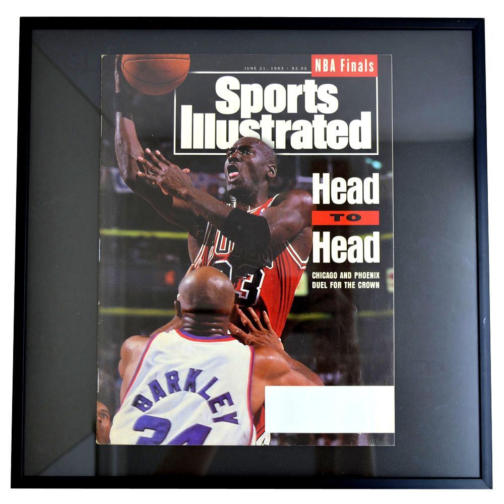 NBA ブルズ マイケル・ジョーダン フォトフレーム Photo Frame in Sports Illustrated 1993/6/21 【1904NBAセール】
