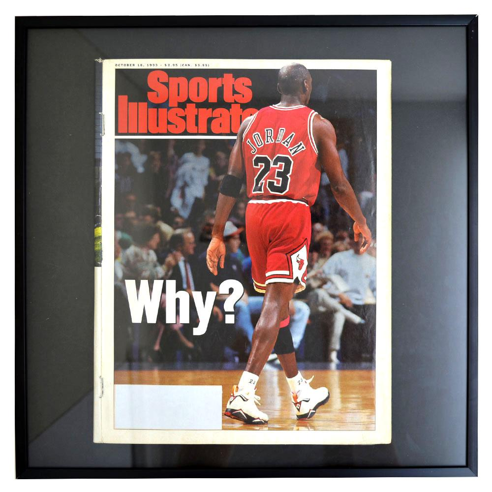 NBA ブルズ マイケル・ジョーダン フォトフレーム Photo Frame in Sports Illustrated 1993/10/18