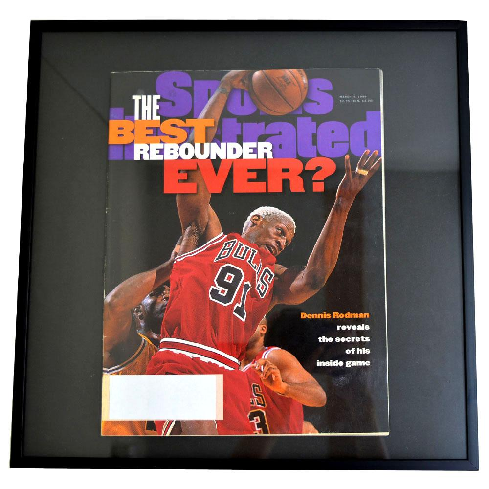 NBA ブルズ デニス・ロッドマン フォトフレーム Photo Frame in Sports Illustrated 1996/4/4