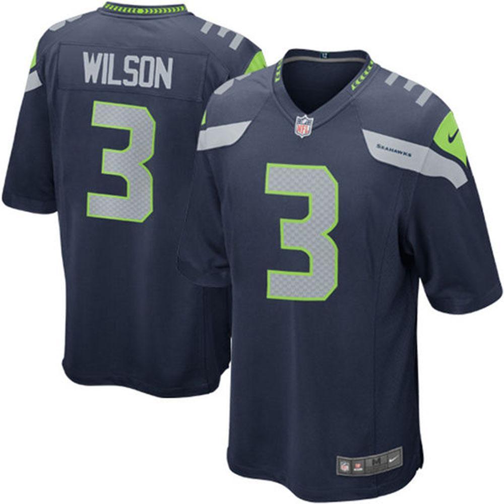 NFL シーホークス ラッセル・ウィルソン Game ユニフォーム Nike
