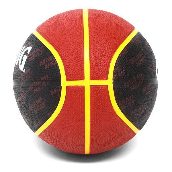 2013 (black / red -7 ball) NBA Miami Heat TEAM RUBBER ball SPALDING