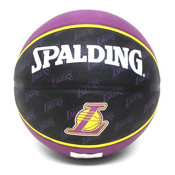 2013 (black / purple -5 ball) NBA Los Angeles Lakers TEAM RUBBER ball SPALDING