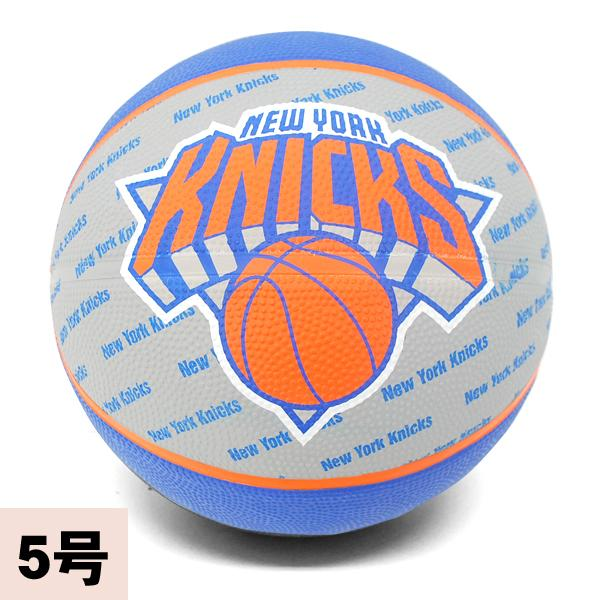 NBA New York Knicks TEAM RUBBER ball 2013 (gray/blue -5 No. sphere) SPALDING